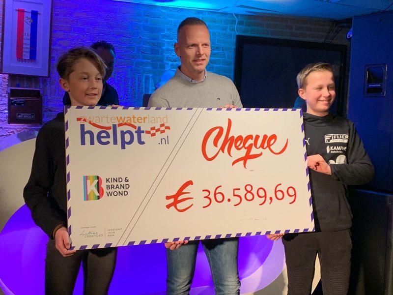 Ruim 36.000 euro voor 'Kind & Brandwond'